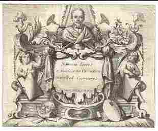 1750 Engraving Carrache Title Leaf