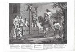 1820 Hogarth Engraving Hudibras Triumphant