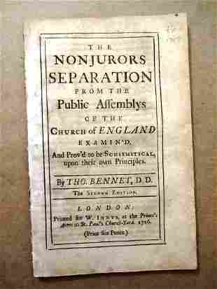 1716 Pamphlet Nonjurors Church of England