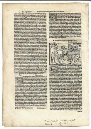 1519 Leaf Catalogus Sanctorum Woodcut Esther Euphemia