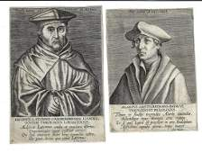Two 16th C Engravings Dutch Notables