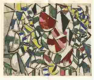 """Fernand Leger """"Variation de formes"""" pochoir, edition of"""