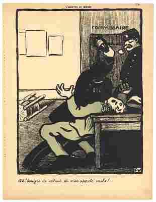"""Felix Vallotton original lithograph """"Crimes et"""
