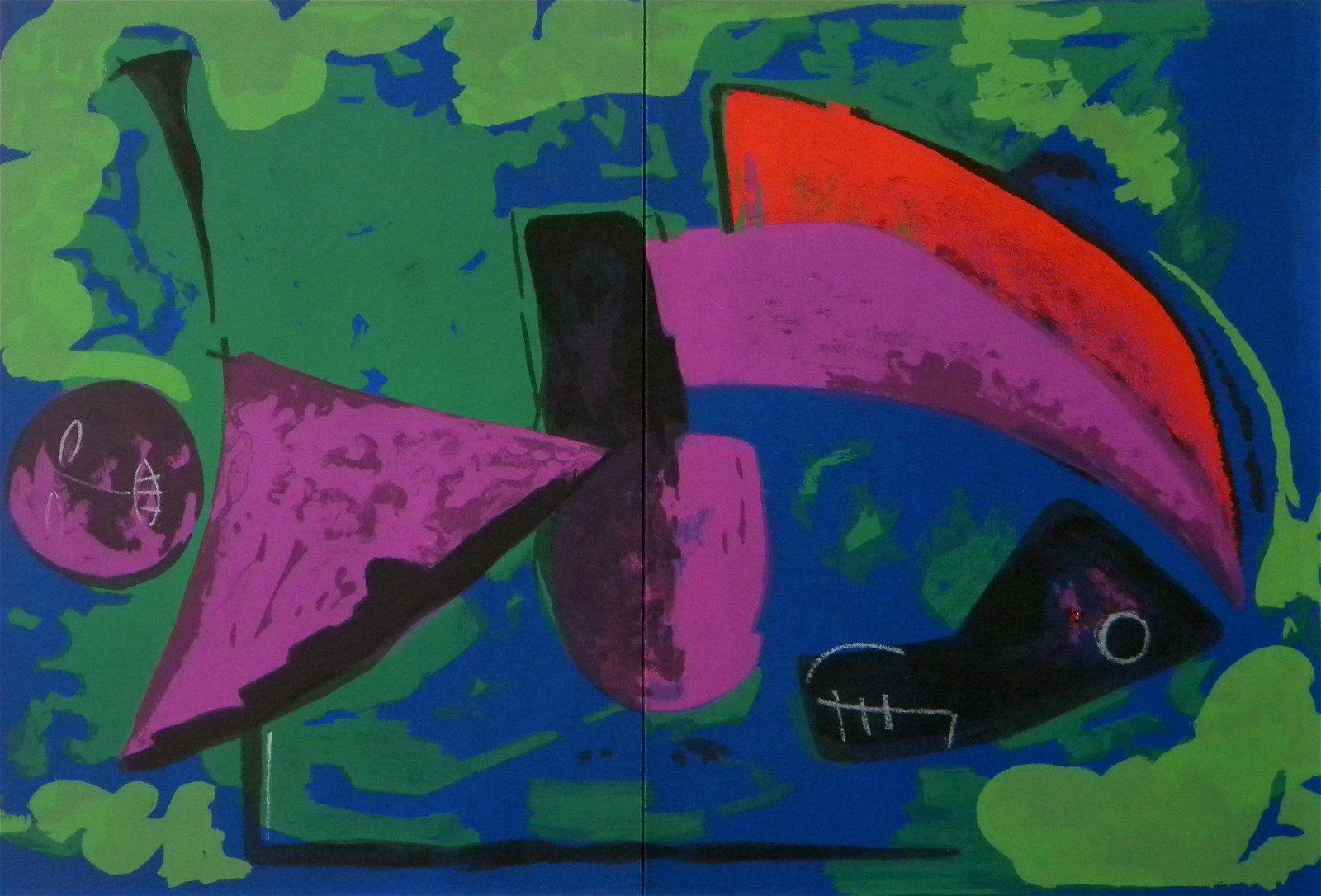 "Marino Marini original lithograph ""Guerrier"" 1968"