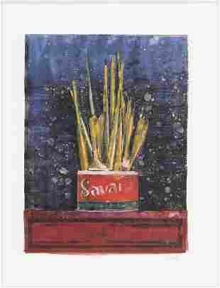 """Jasper Johns """"Savarin"""" 1982"""