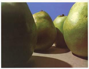 "Peter Dechar original lithograph ""Pears"""