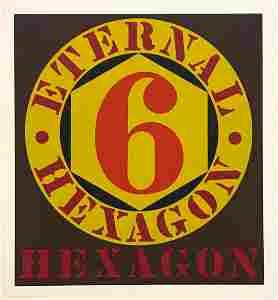 "Robert Indiana ""Eternal Hexagon"" original serigraph"