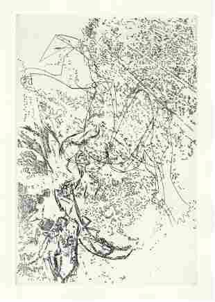 Magdeleine Vessereau original etching for Paroles