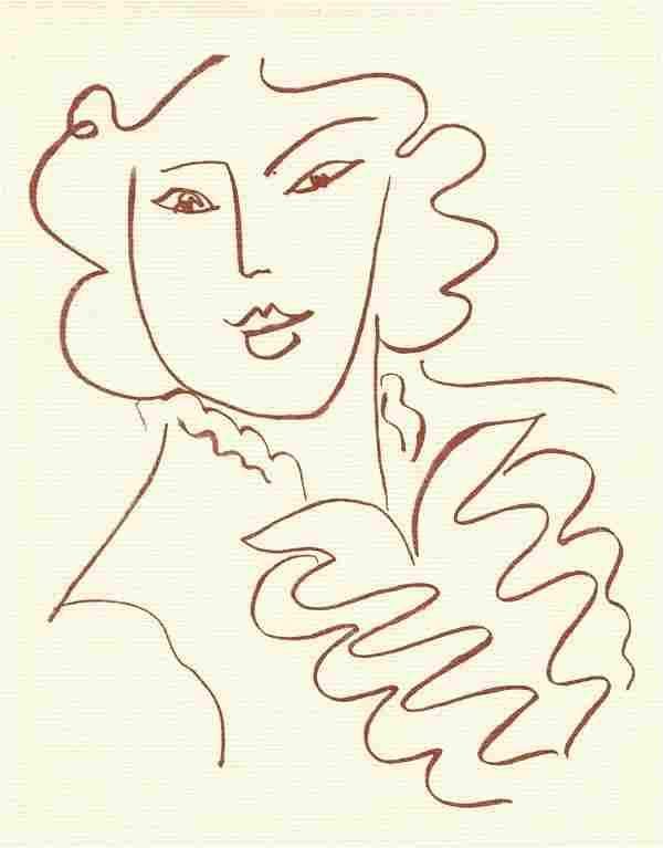 Henri Matisse lithograph   Florilege de Rosnard