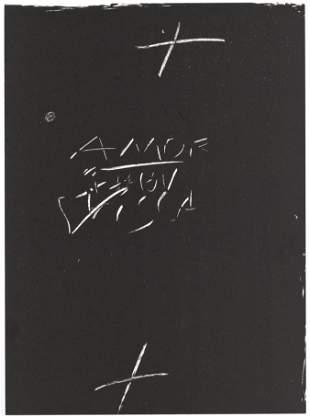 Antoni Tapies original lithograph, 1974