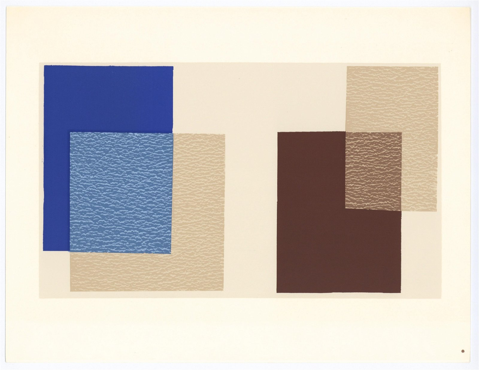 Josef Albers silkscreen | Interaction of Color, 1963