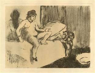 Edgar Degas monotype Attente