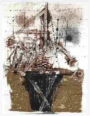 Johnny Friedlaender original lithograph 1973