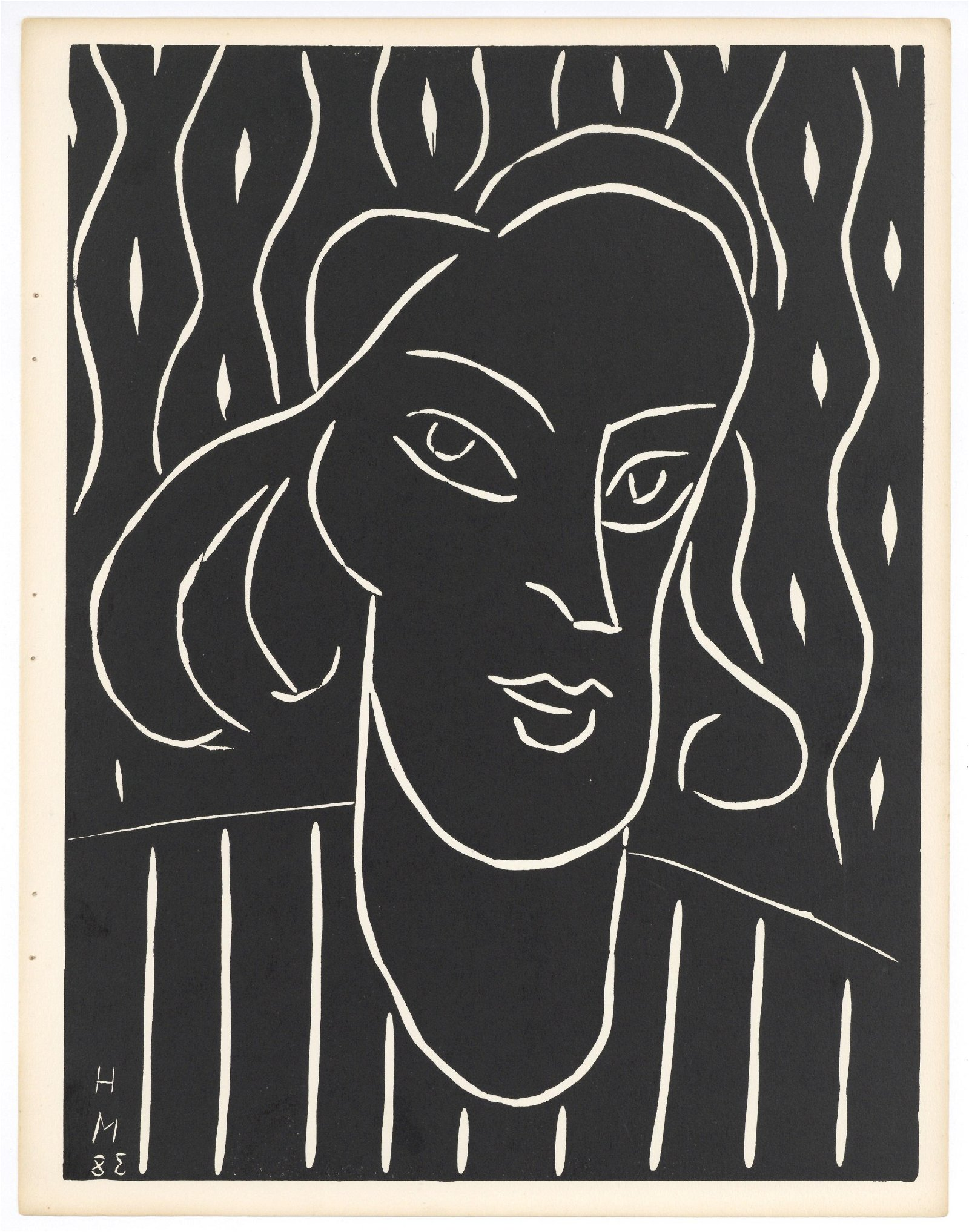 "Henri Matisse ""Teeny"" original linocut 1938 1st edition"