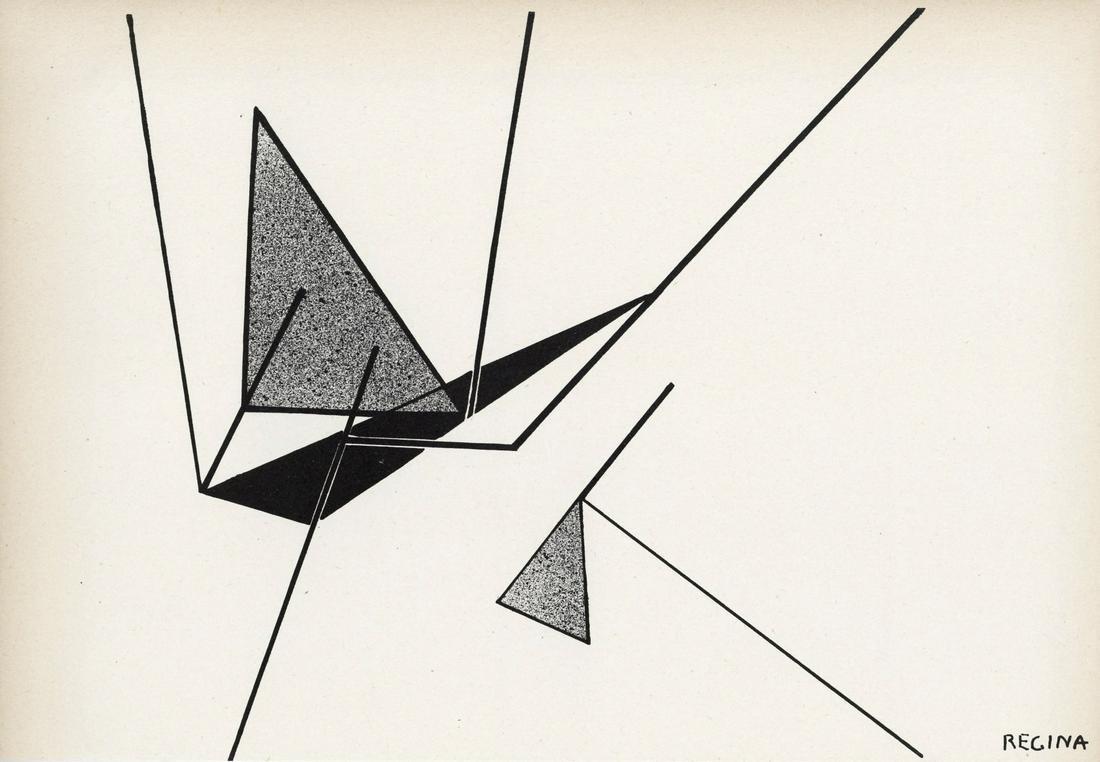 Regina original lithograph | Arte Concreta, Groupe
