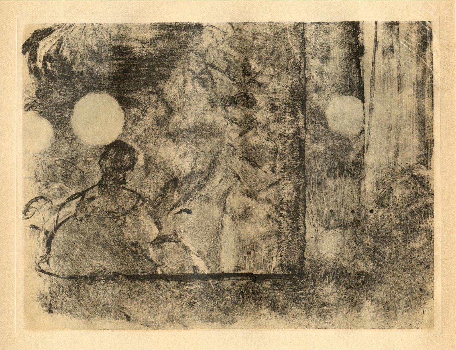 """Edgar Degas monotype """"Cafe-Concert"""""""