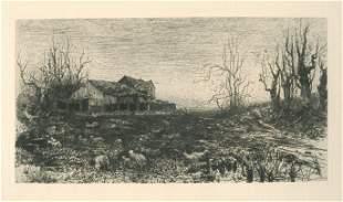 Stephen Parrish November original etching