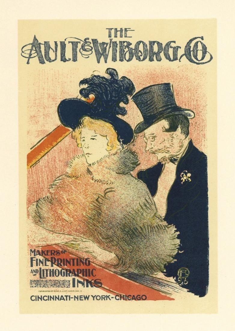 """Toulouse-Lautrec lithograph poster """"Au Concert"""""""