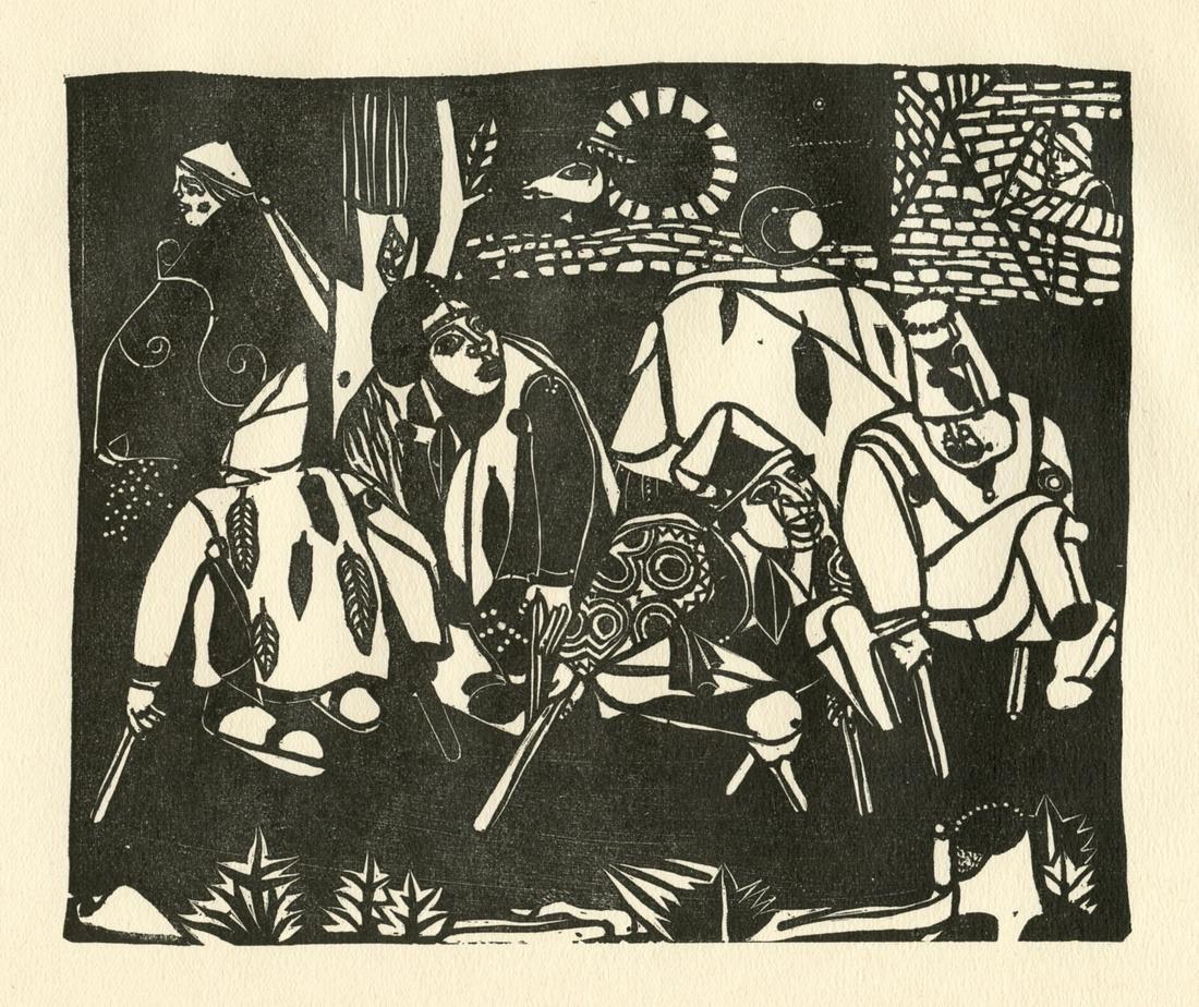 """Heinrich Campendonck """"Die Bettler (nach Bruegel)"""""""