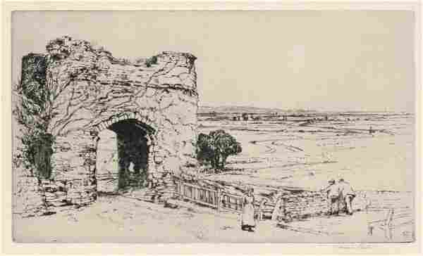 "Frank Short ""Strand Gate, Winchelsea"" pencil-signed"