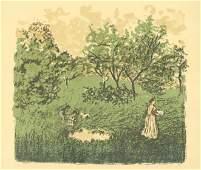 """Pierre Bonnard lithograph """"Le Verger"""""""