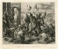 "Eugene Delacroix etching ""Constantinople"""