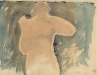Auguste Rodin pochoir (Figure masculine)