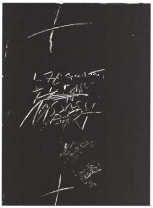 "Antoni Tapies original lithograph ""Amor"""