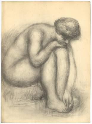 """Pierre-Auguste Renoir lithograph """"Baigneuse se sechant"""""""