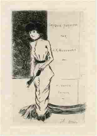 "Jean-Louis Forain original etching ""Croquis Parisiens"""