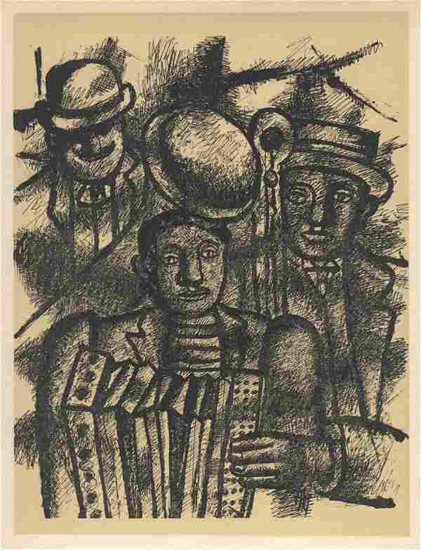 """Fernand Leger lithograph """"Les musiciens"""" edition of"""