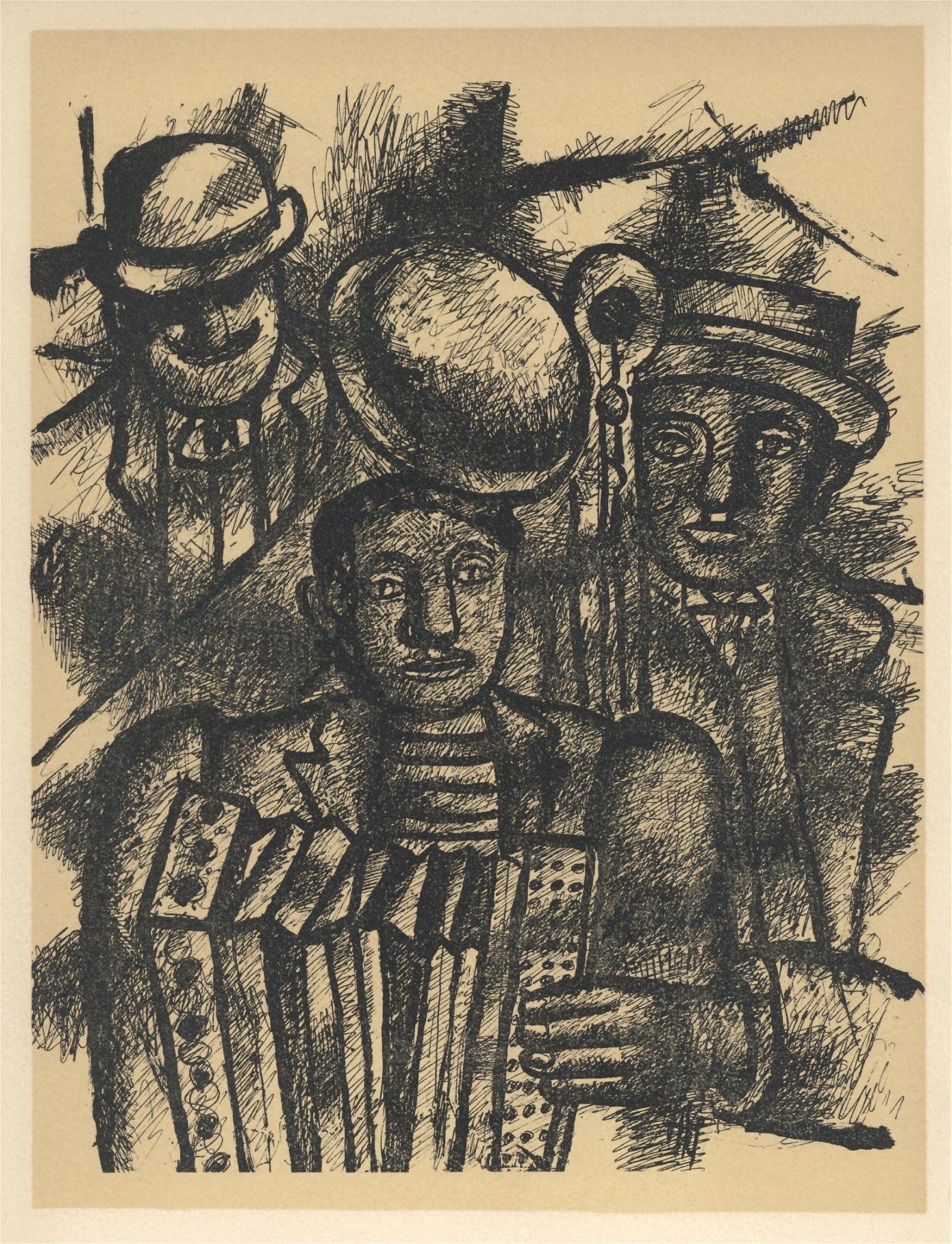 "Fernand Leger lithograph ""Les musiciens"" edition of"