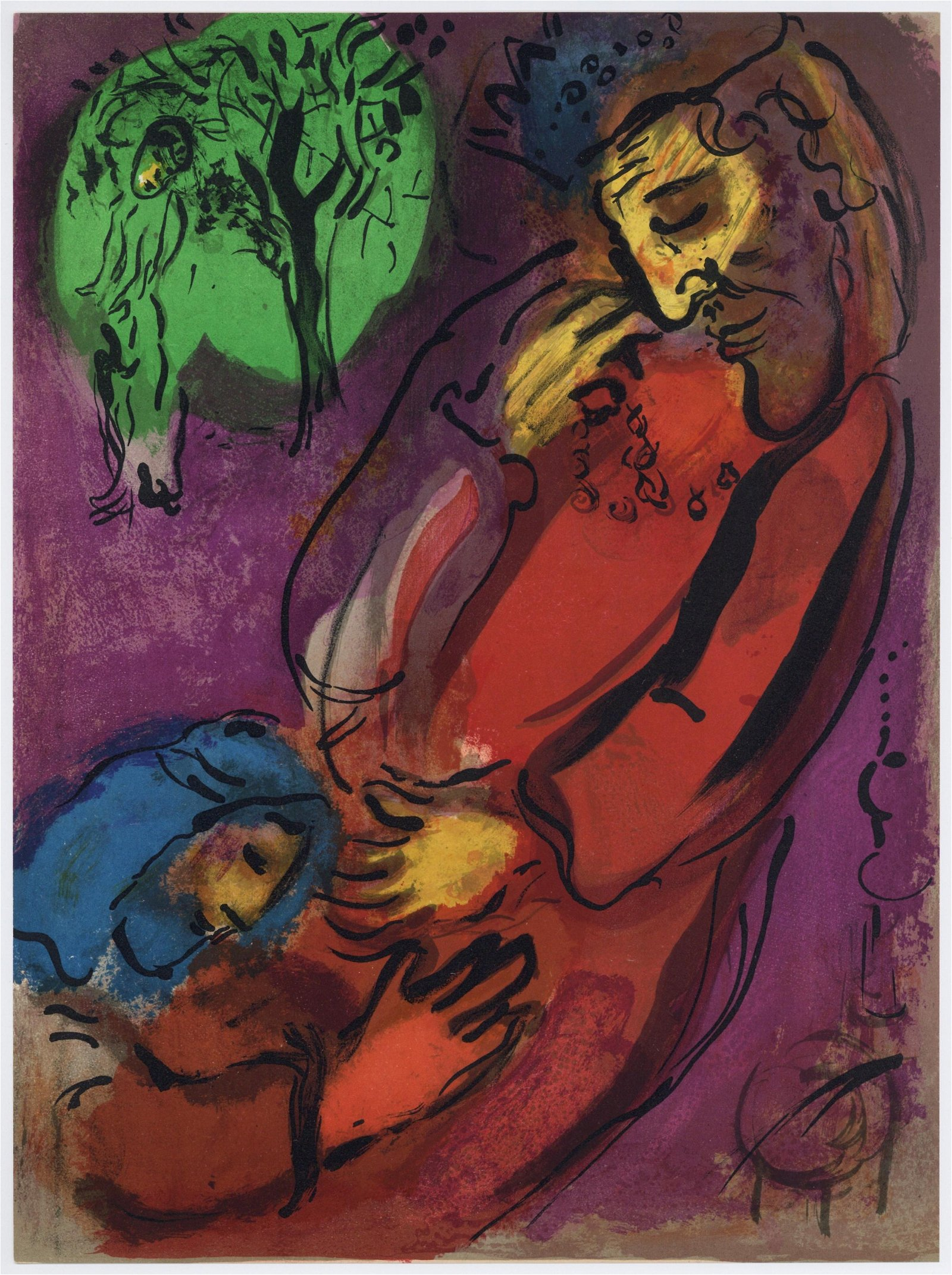 "Marc Chagall ""David and Absalom"" original Bible"