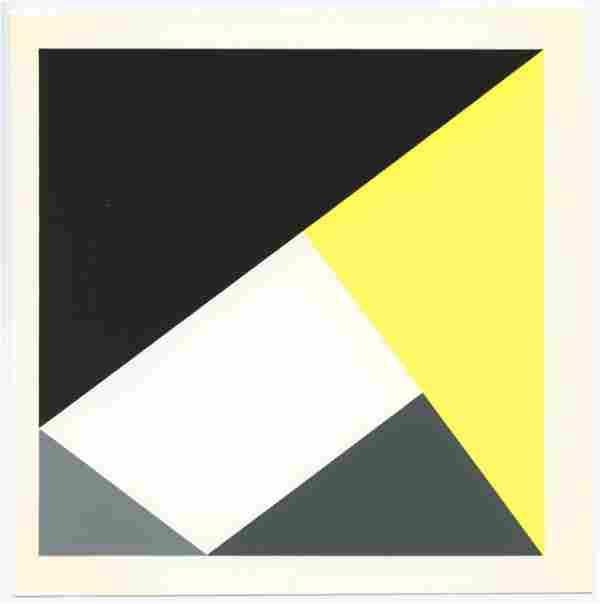 """Max Bill serigraph """"Four Pythagorean Triangles"""""""