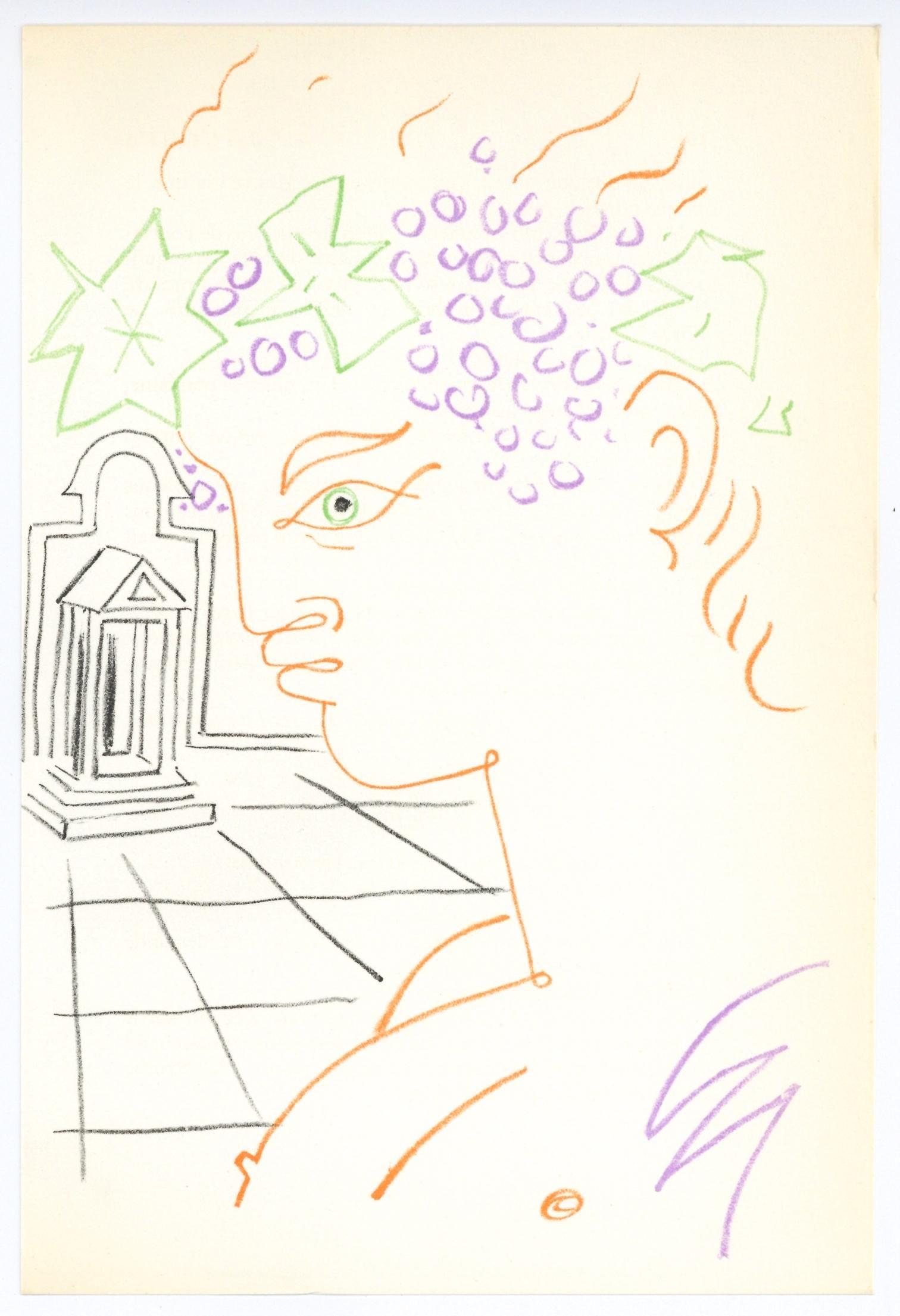 Jean Cocteau original lithograph | Bacchus