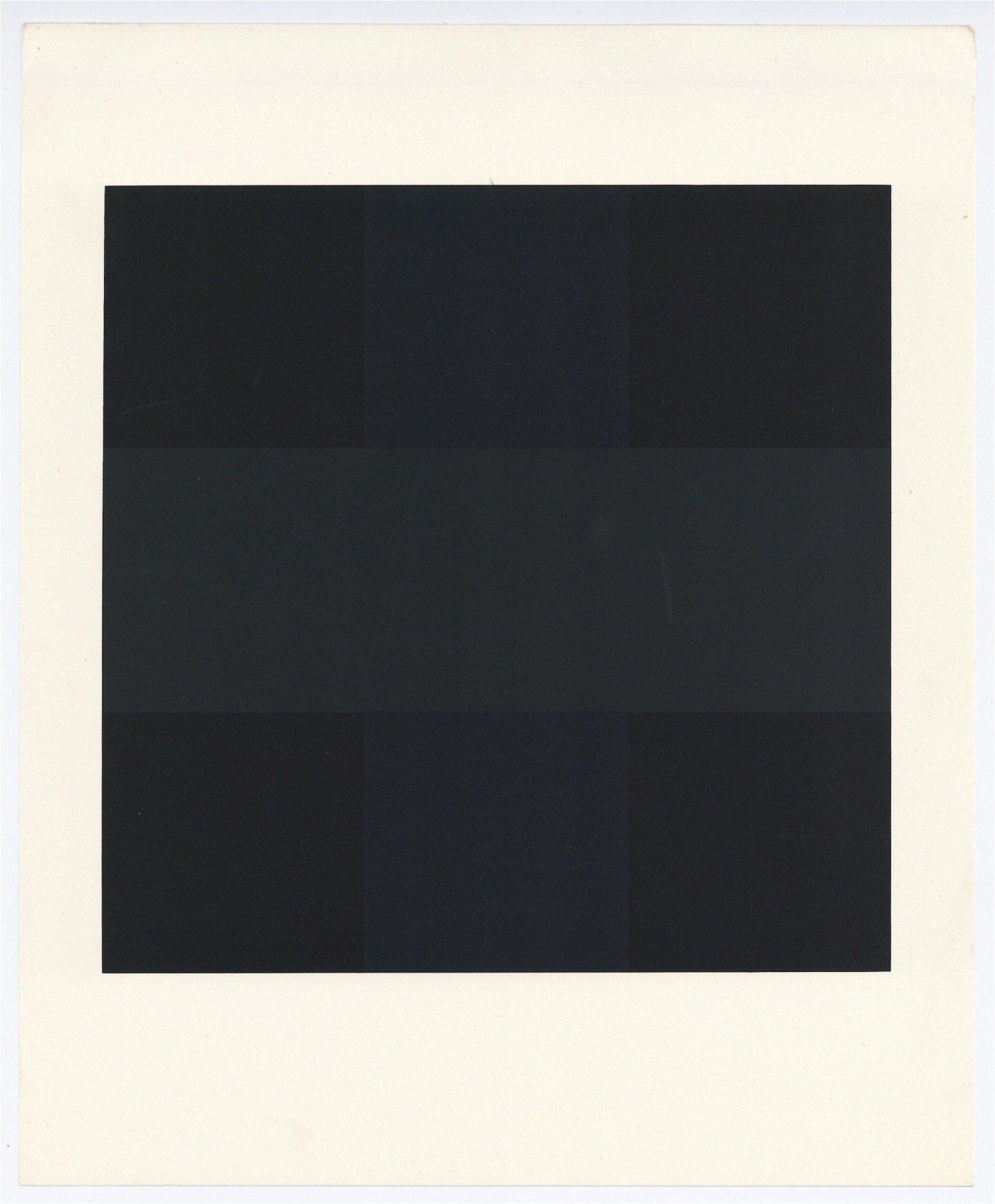 Ad Reinhardt serigraph Composition in Black