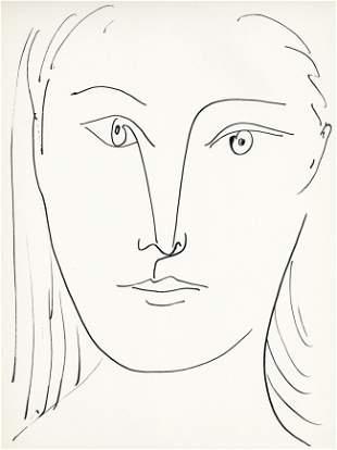 """Pablo Picasso lithograph """"Visage de femme"""""""