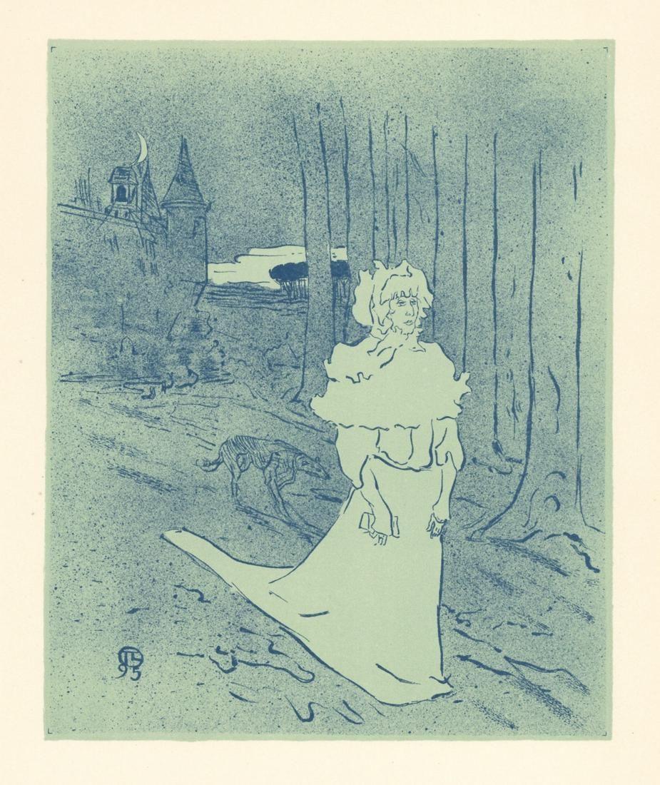 """Toulouse-Lautrec lithograph poster """"La Chatelaine"""""""