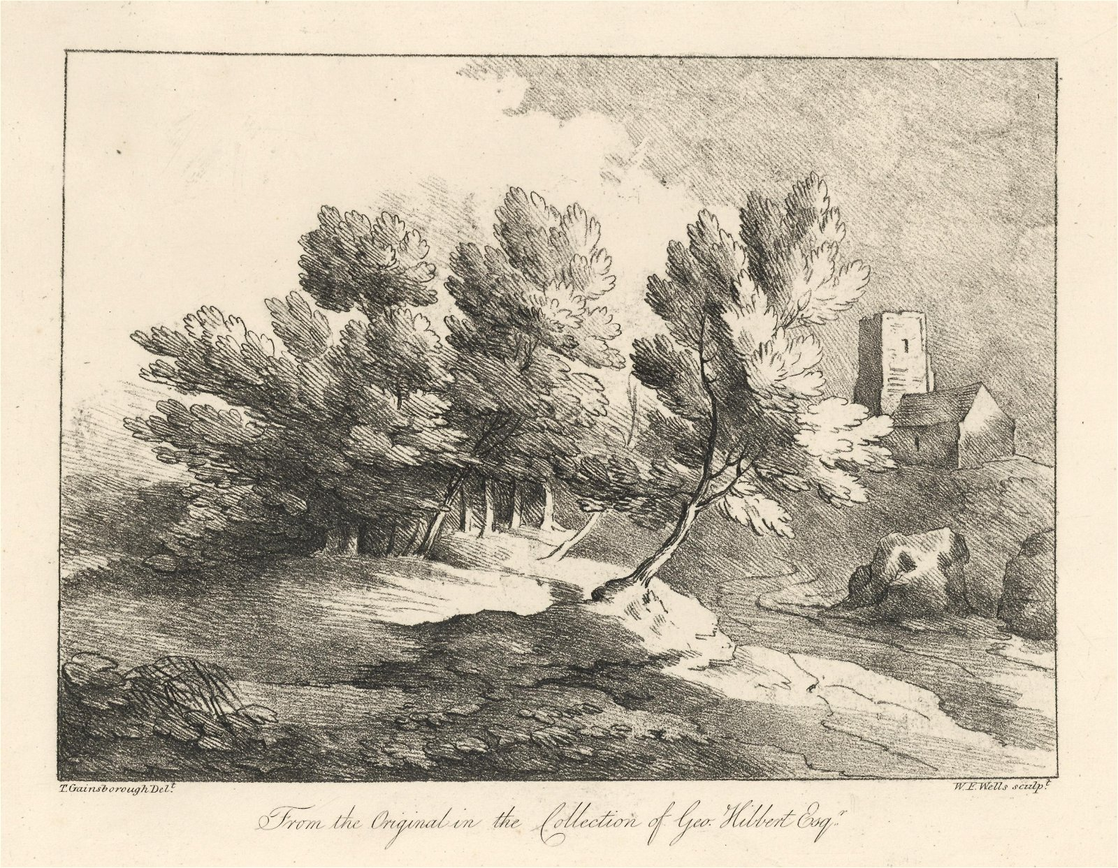 Thomas Gainsborough soft-ground etching, 1819