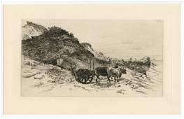 Edmund Henry Garrett original etching Near