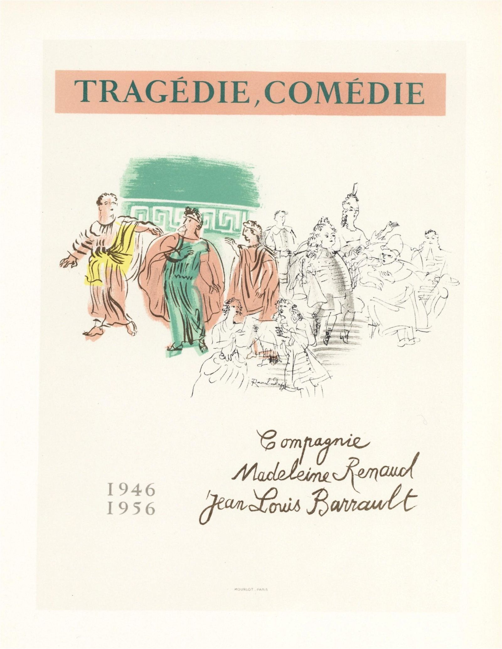 Raoul Dufy lithograph poster Tragedie Comedie