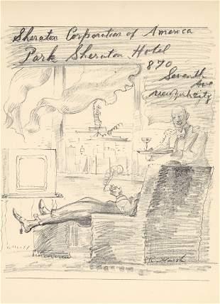 Reginald Marsh original lithograph