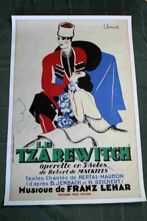 "Le Tzarewitch (France, 1930) 47.5"" x 31"" Operetta"