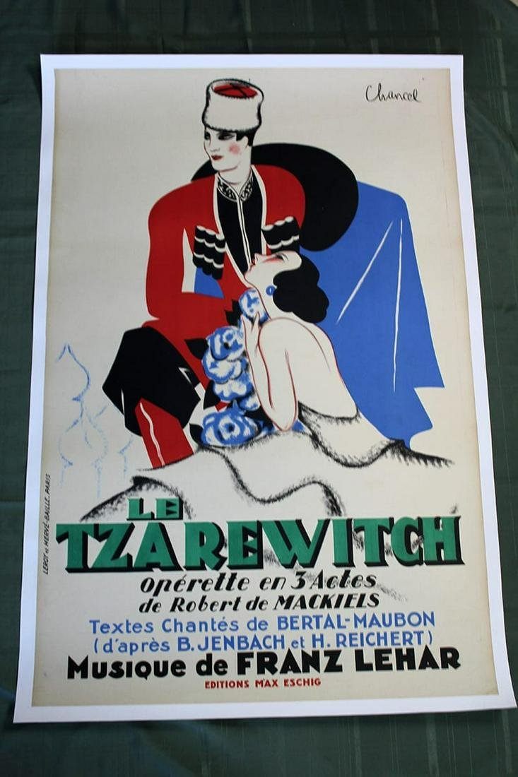 "Le Tzarewitch (France, 1930) 47.5"" x 31"" Operetta"