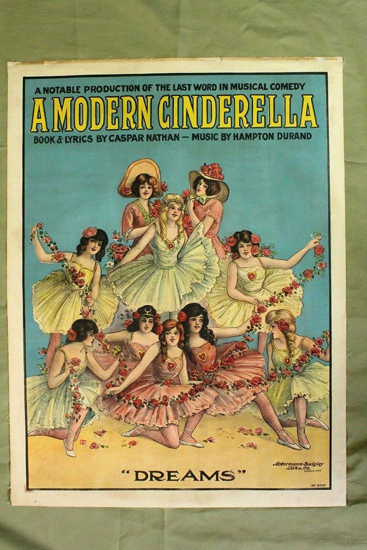 "A Modern Cinderella (1901) 21"" x 28.25"" US Theater"