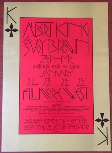 B.B. KING - ORIGINAL 1970 CONCERT POSTER - SET OF 2