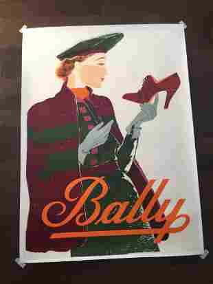 "Bally Shoes - Art by Reynold Vuilleumier (1937) 36.5"" x"