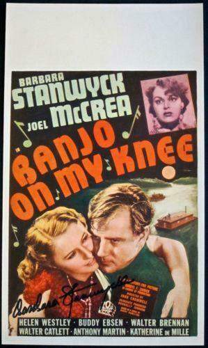 BANJO ON MY KNEE 36 MIDGET WINDOW CARD JOEL McCREA