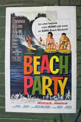 Beach Party (USA, 1963) US One Sheet Movie Poster