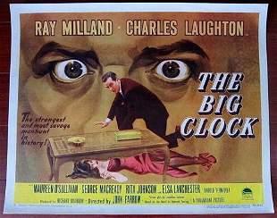 BIG CLOCK '48 1/2 SH POSTER RAY MILLAND & CHARLES